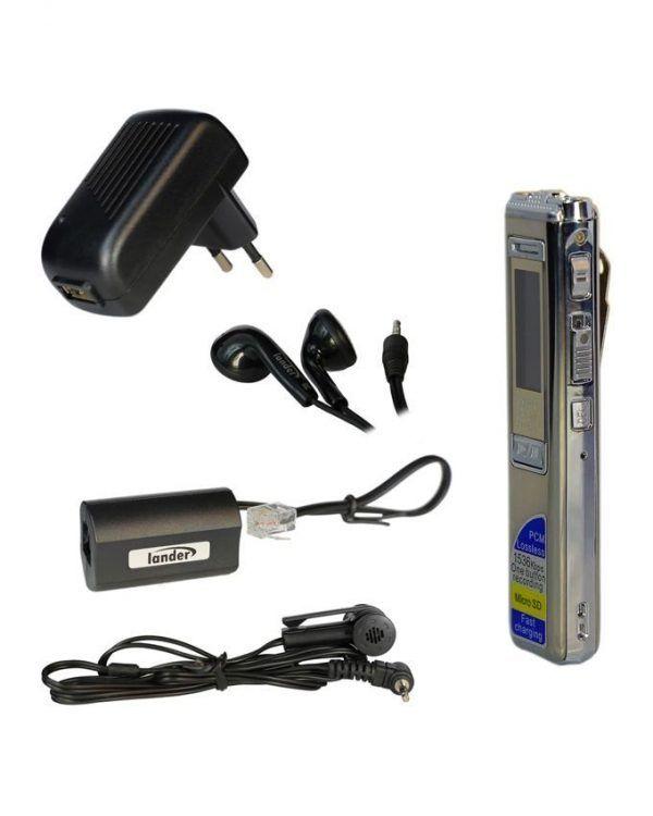 ویس رکوردر حرفه ای لندر مدل LD-76 بهترین رکوردر صدا دستگاه ضبط صدا