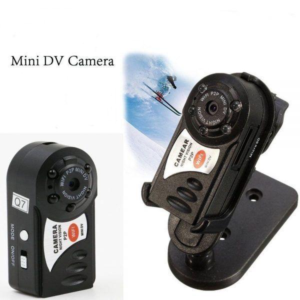 Mini DV Wifi Camera Q7 دوربین وای فای کوچک دوربین کوچک مینی دی وی Q7 قیمت دوربین وای فای رم خور خرید دوربین وای فای