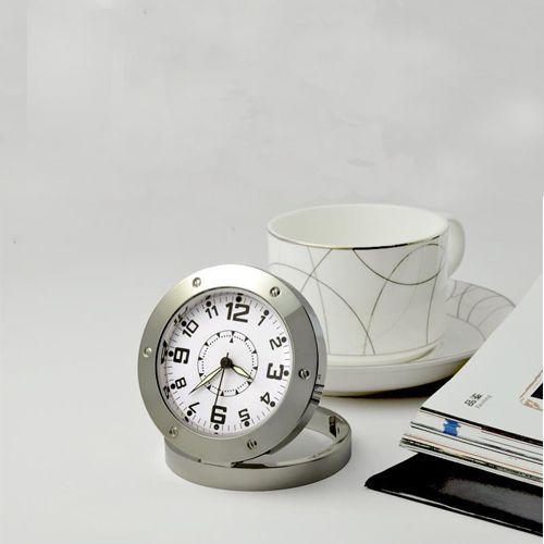 ساعت رومیزی دوربین دار استیل - مجهز به دوربین مخفی فیلمبرداری Full HD با سنسور حرکتی