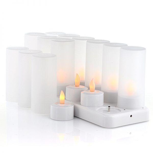 شمع LED قابل شارژ - شمع بدون حرارت شارژی