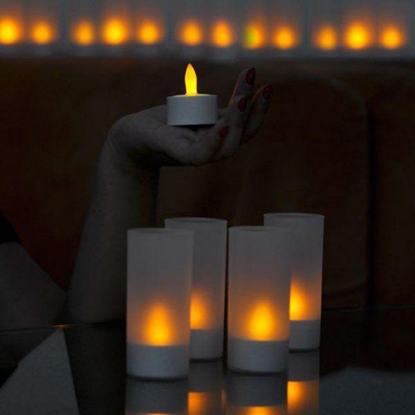 شمع ال ای دی قابل شارژ