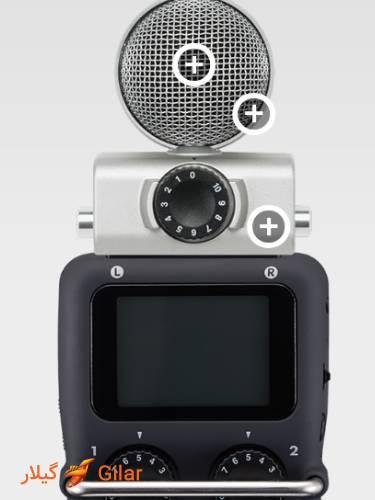 میکروفون MSH-6 نصب بر روی zoom H5