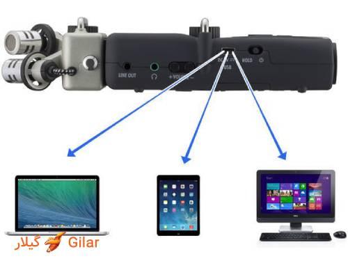 پورت USB ویس رکوردر Zoom H5