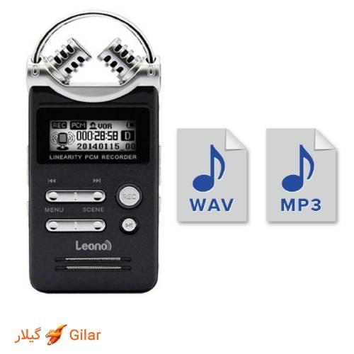 فرمت های دستگاه ضبط صدا v-28