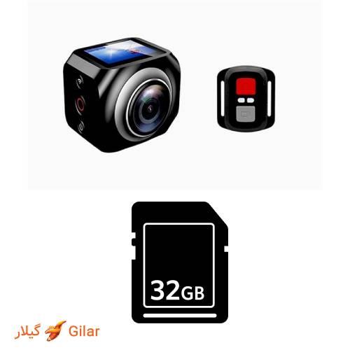 پشتیبانی از کارت حافظه تا 32 گیگابایت دوربین ورزشی ضد آب