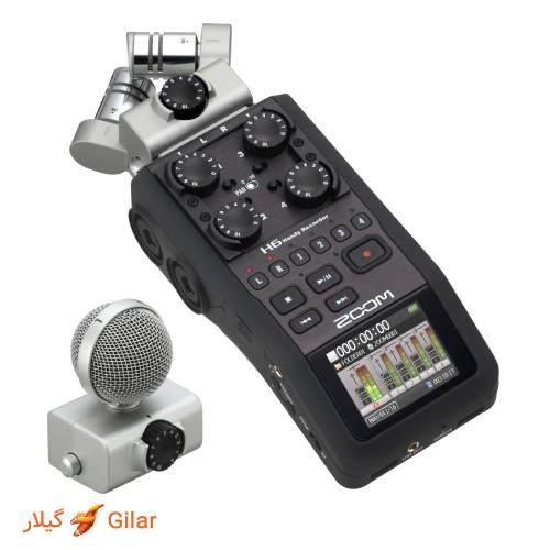 میکروفون کپسولی رکوردر صدا زوم H6